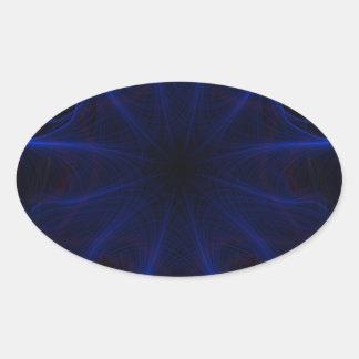 Adesivo Oval DK. Laser azul