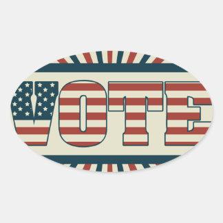 Adesivo Oval Engrenagem de votação retro