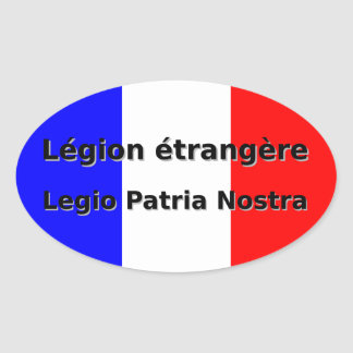 Adesivo Oval Etrangere da legião - Legio Patria Nostra