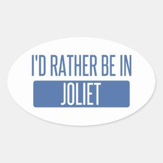 Adesivo Oval Eu preferencialmente estaria em Joliet