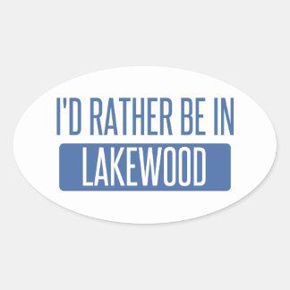 Adesivo Oval Eu preferencialmente estaria em Lakewood OH