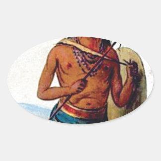 Adesivo Oval guerreiro chested desencapado