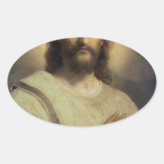 Adesivo Oval Imagem do senhor - Heinrich Hofmann