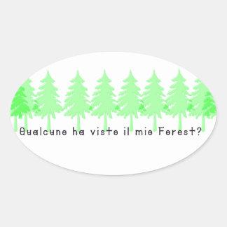 Adesivo Oval Italiano-Forrest