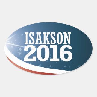 Adesivo Oval Johnny Isakson 2016