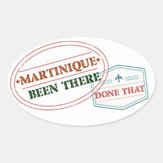 Adesivo Oval Martinica feito lá isso