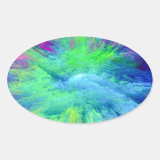Adesivo Oval Multi colorido