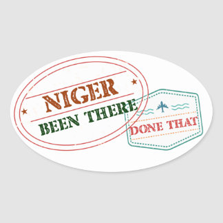 Adesivo Oval Niger feito lá isso