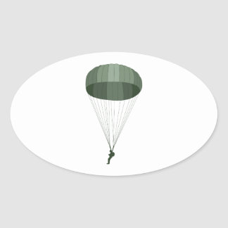 Adesivo Oval Paramilitar transportado por via aérea