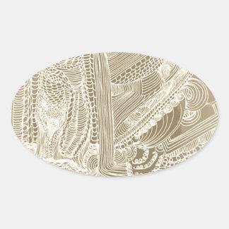 Adesivo Oval Princesa romana
