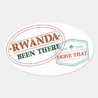 Adesivo Oval Rwanda feito lá isso