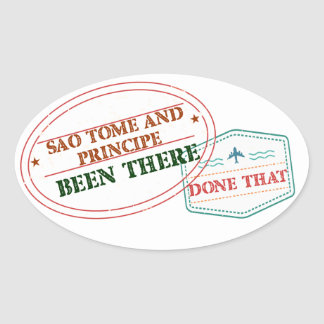Adesivo Oval Sao Tome and Principe feito lá isso