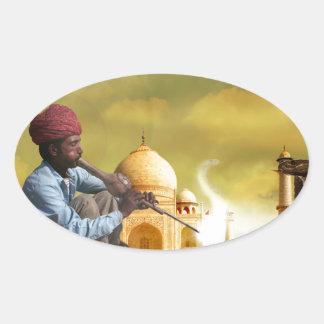 Adesivo Oval Taj Mahal