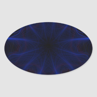Adesivo Oval teste padrão azul do laser