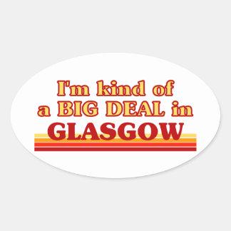 Adesivo Oval Tipo de I´m de uma grande coisa em Glasgow