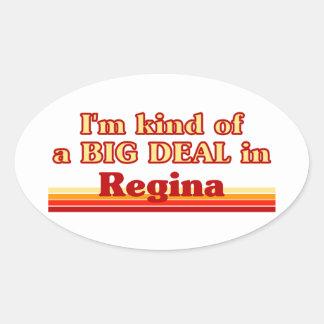 Adesivo Oval Tipo de I'm de uma grande coisa em Regina
