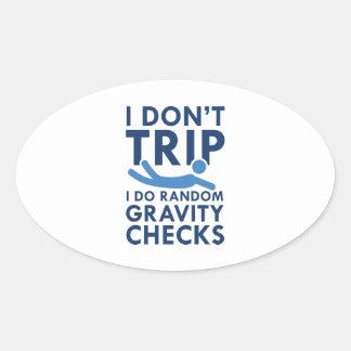 Adesivo Oval Verificações da gravidade