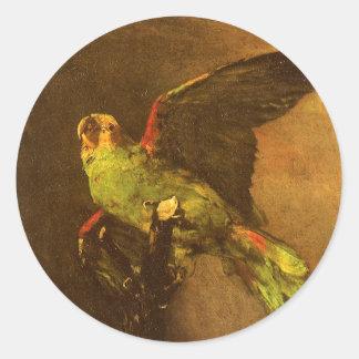 Adesivo Papagaio verde por Vincent van Gogh, belas artes