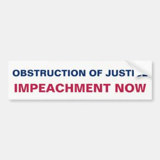 Adesivo Para Carro A destituição da obstrução justiça resiste agora