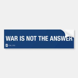 Adesivo Para Carro A guerra não é o autocolante no vidro traseiro da