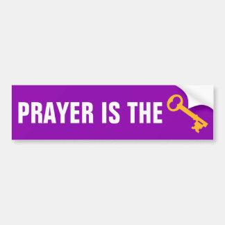 Adesivo Para Carro A oração é a chave