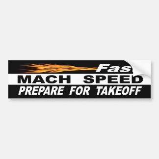 Adesivo Para Carro A velocidade rápida do Mach prepara-se para a