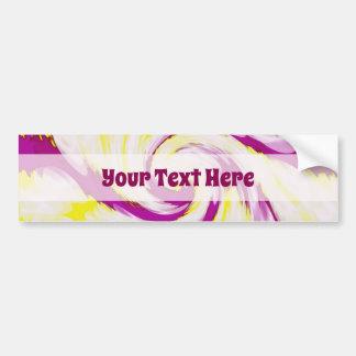 Adesivo Para Carro Abstrato branco amarelo cor-de-rosa Groovy do