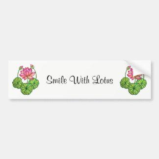 Adesivo Para Carro Aguarela Lotus cor-de-rosa com botões & folhas