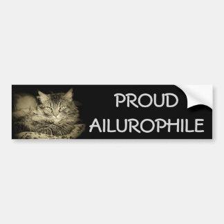 Adesivo Para Carro Ailurophile orgulhoso (amante do gato)