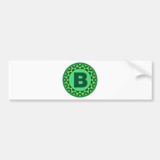 Adesivo Para Carro Alfabeto verde conhecido inicial b da letra do