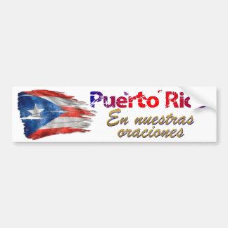 Adesivo Para Carro Alivio de Puerto Rico - em nossas orações