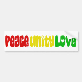 Adesivo Para Carro Amor da unidade da paz