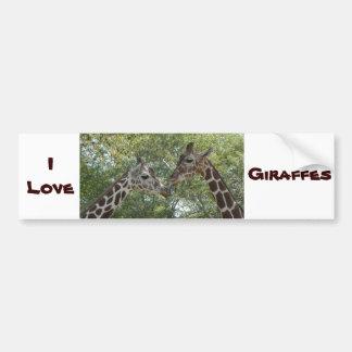 Adesivo Para Carro Amor do girafa