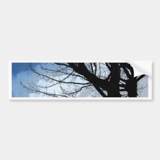 Adesivo Para Carro Arte dos céus azuis e da árvore de amieiro