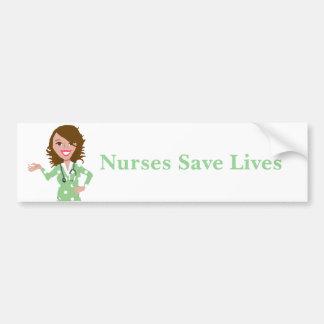 Adesivo Para Carro As enfermeiras salvar vidas
