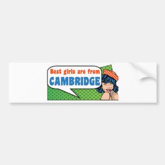 Adesivo Para Carro As melhores meninas são de Cambridge