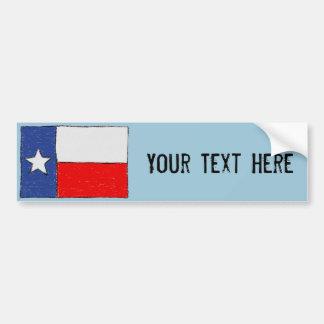 Adesivo Para Carro Autocolante no vidro traseiro da bandeira de Texas