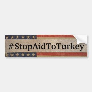 Adesivo Para Carro Autocolante no vidro traseiro do #StopAidToTurkey