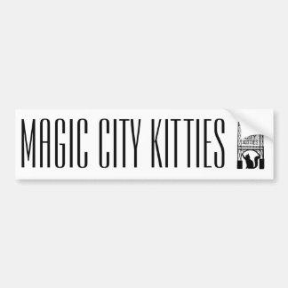 Adesivo Para Carro Autocolante no vidro traseiro mágico dos gatinhos