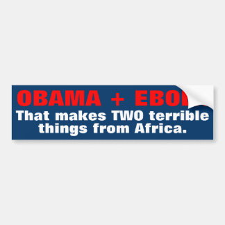Adesivo Para Carro Autocolantes no vidro traseiro de Obama Ebola