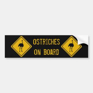 Adesivo Para Carro avestruzes seguintes de 10 quilômetros