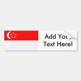 Adesivo Para Carro Bandeira de Singapore