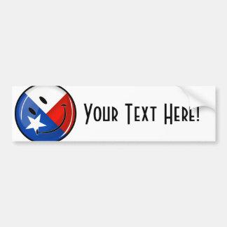 Adesivo Para Carro Bandeira de sorriso de Texas