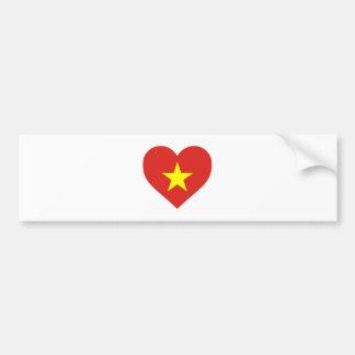 Adesivo Para Carro Bandeira de Vietnam - vàng do sao do đỏ do amor