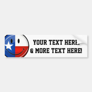 Adesivo Para Carro Bandeira orgulhosa de sorriso de Texas do círculo