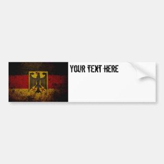 Adesivo Para Carro Bandeira preta de Alemanha do Grunge