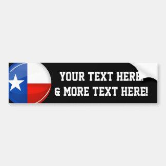 Adesivo Para Carro Bandeira redonda lustrosa de Texas