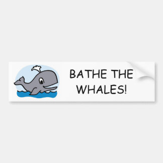 Adesivo Para Carro Banhe as baleias
