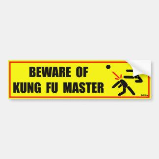 Adesivo Para Carro Beware do mestre de Kung Fu