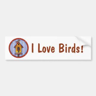 Adesivo Para Carro Birdhouse com pássaro